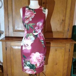 Floral Calvin Klein Sheath Dress